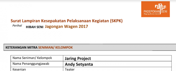 Kuratorial Hibah Seni Jagongan Wagen 2017